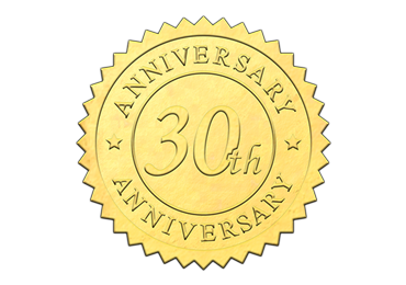 Gold 30th Anniversary Seal