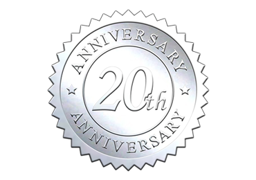 Silver 20th Anniversary Seal