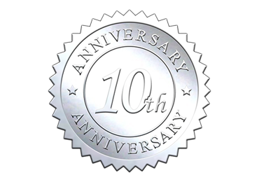 Silver 10th Anniversary Seal