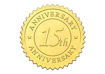 Gold 15th Anniversary Seal