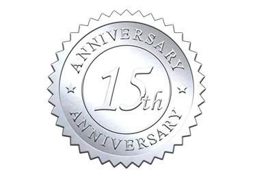 Silver 15th Anniversary Seal