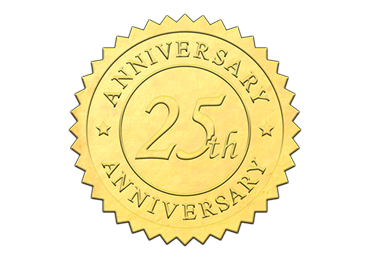 Gold 25th Anniversary Seal