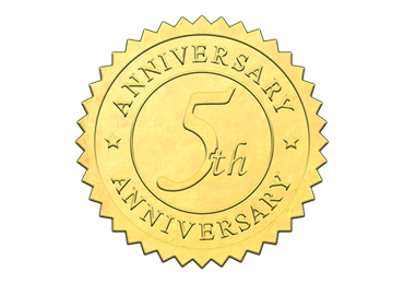 Gold 5th Anniversary Seal