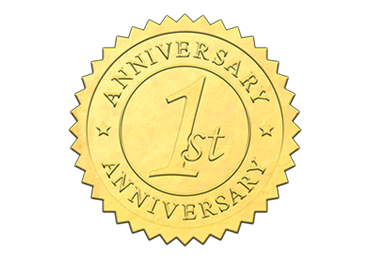 Gold 1st Anniversary Seal
