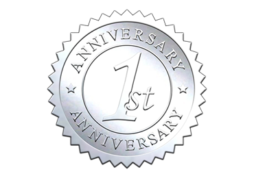 Silver 1st Anniversary Seal