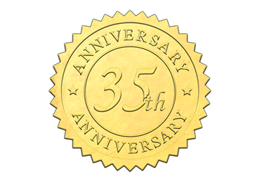 Gold 35th Anniversary Seal