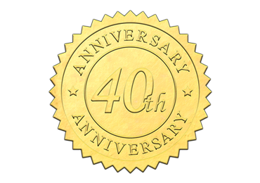 Gold 40th Anniversary Seal