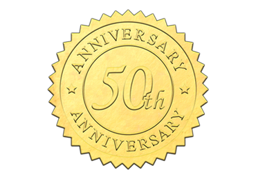 Gold 50th Anniversary Seal
