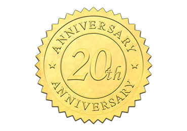 Gold 20th Anniversary Seal