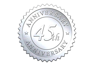 Silver 45th Anniversary Seal