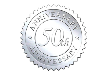 Silver 50th Anniversary Seal
