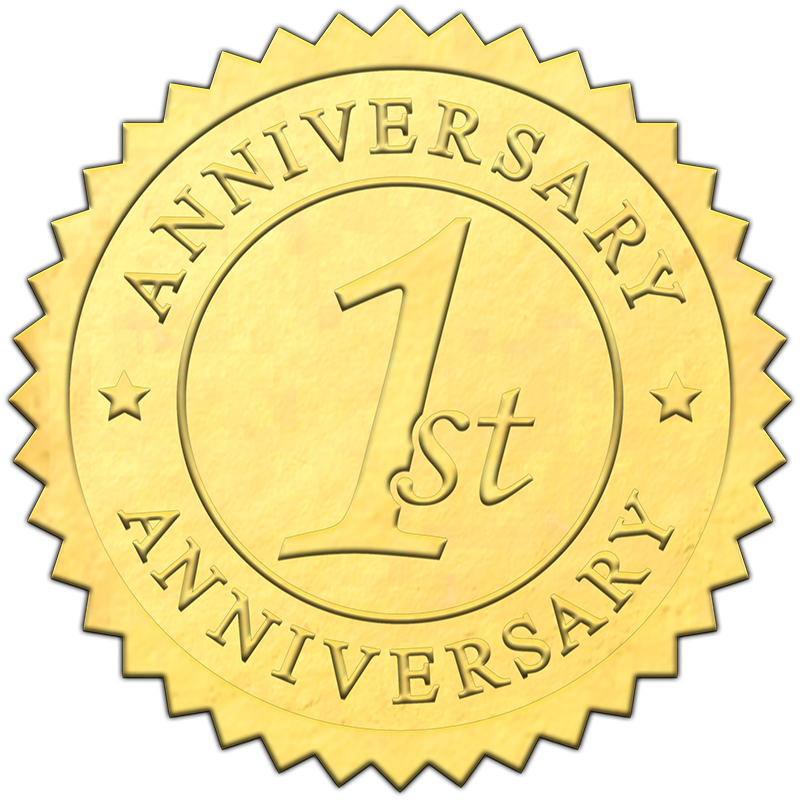 gold 1st anniversary seal sticky business gold 1st anniversary seal sticky business
