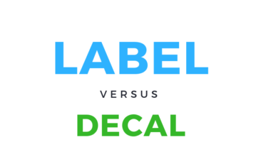 differences between labels and decals infographic