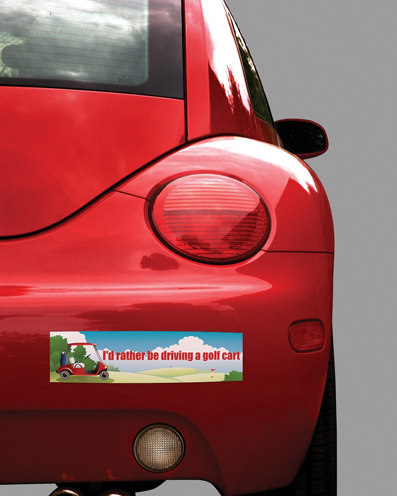 Bumper stickers sticky business