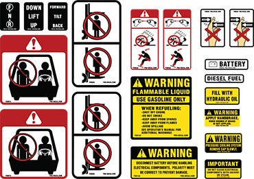 Warning Decals