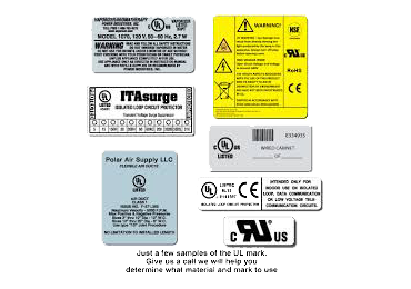 UL Approved Labels