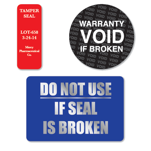 Tamper Evident Void Tape Security Proof Seal Blue 480 Stickers Per Roll